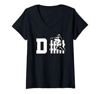 Womens Baseball Design for Base Ball Lovers V-Neck T-Shirt