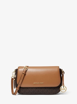 MICHAEL Michael Kors Bedford Legacy Large Logo and Pebbled Leather Crossbody Bag