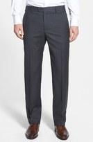 Zanella 'Devon' Flat Front Wool Trousers