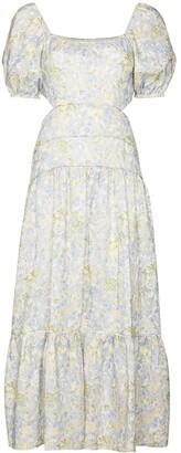 Peony Swimwear Cutout Floral-Print Midi Dress