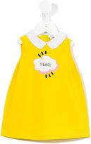 Fendi cloud print dress - kids - Cotton/Spandex/Elastane - 6 mth