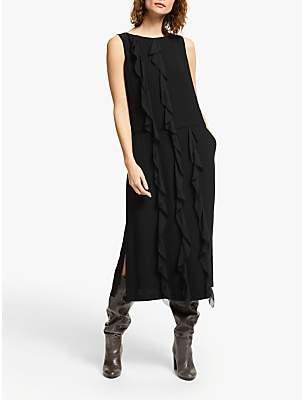 Modern Rarity Ruffle Front Dress, Black