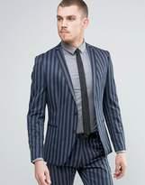 Selected Skinny Stripe Suit Jacket