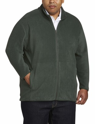 Amazon Essentials Men's Big and Tall Full-Zip Polar Fleece Jacket fit by DXL