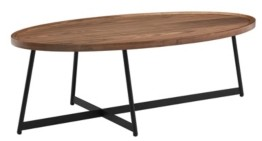 "Euro Style Niklaus 47"" Oval Coffee Table"