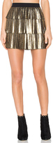BCBGMAXAZRIA Zana Skirt in Metallic Gold. - size L (also in )