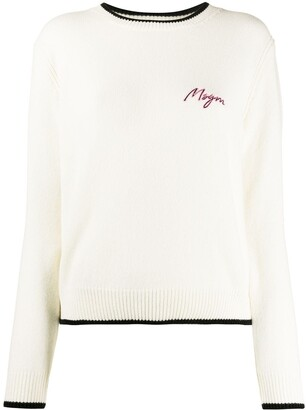 MSGM Embroidered Logo Jumper