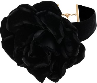 Saint Laurent Rose-Motif Choker Necklace