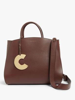 Coccinelle Concrete Grain Leather Grab Bag