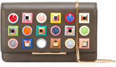 Fendi studded chain wallet - women - Leather/Acrylic/metal - One Size