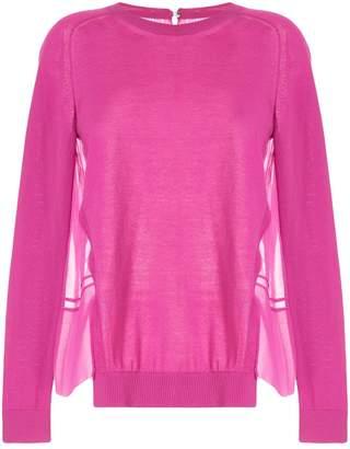 No.21 Chiffon-Panelled Sweater
