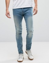 Blend of America Cirrus Skinny Sweat Jeans Light Blue