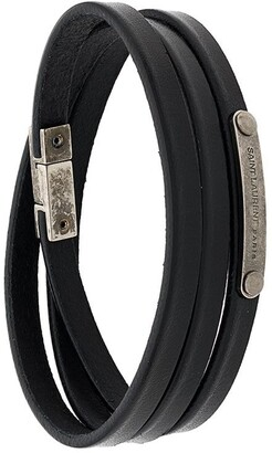Saint Laurent ID narrow wraparound bracelet