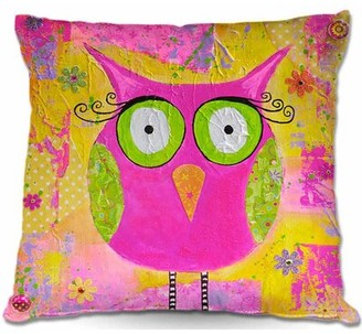 """Roseline Couch Hootie the Owl Throw Pillow Harriet Bee Size: 16"""" x 16"""""""