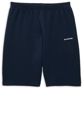 Balenciaga Little Kid's & Kid's Logo Cotton Jersey Shorts