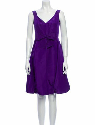 Oscar de la Renta 2013 Knee-Length Dress Purple