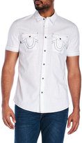 True Religion Two-Pocket Stitched Logo Shirt