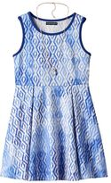 My Michelle Girls 7-16 Diamond Pattern Skater Dress with Necklace