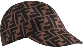 Fendi Brown Kids Hat With Double Ff