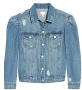 BP Women's Puff Sleeve Denim Jacket