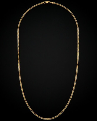 Italian Gold 14K Two-Tone Pave Curb Necklace