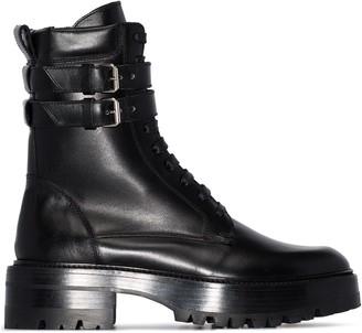 Amiri double-buckle combat boots