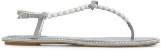 Rene Caovilla Pearl Thong Sandals