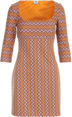 M Missoni Boat Neck 3/4s Pencil Dress