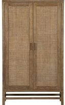 Crate & Barrel Blake Grey Wash Two-Door Cabinet.