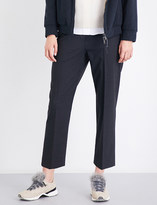 Brunello Cucinelli Tapered high-rise virgin wool-blend trousers