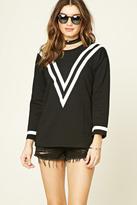 Forever 21 Chevron Patterned Sweatshirt