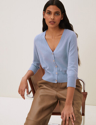 Marks and Spencer Pure Cashmere Cropped Cardigan