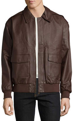 VINTAG HairE LEATHER Vintage Leather Aviator Bomber Jacket
