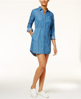 Calvin Klein Jeans Denim Belted Shirt Dress