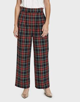 Just Female Sinclair Plaid Trouser