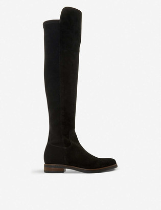 Dune Tropic suede over-the-knee stretch boots