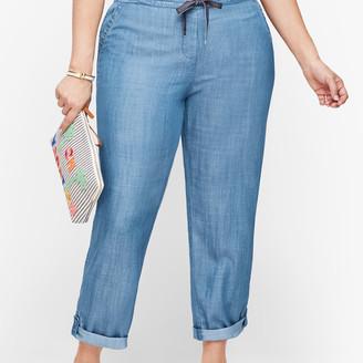 Talbots Summer Twill Slim Leg Crop Pants - TENCEL