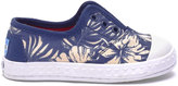 Toms Blue Canvas Floral Tiny Zuma Sneakers