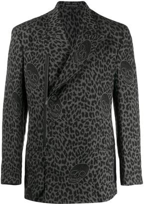 Yohji Yamamoto Leopard Print Blazer