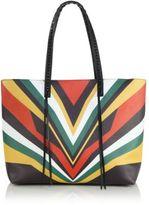 Elena Ghisellini Miky Jamaica Tiger Medium Leather Shopper