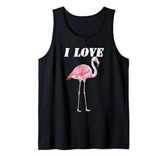 Flamingos Realistic I Love Tank Top