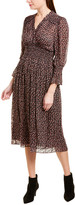 Rebecca Taylor Fran Silk-Blend A-Line Dress
