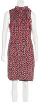 Catherine Malandrino Abstract Print Silk Dress