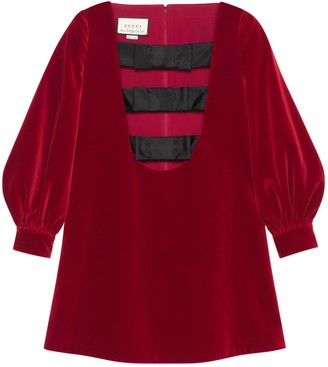 Gucci Petit velvet dress with bows