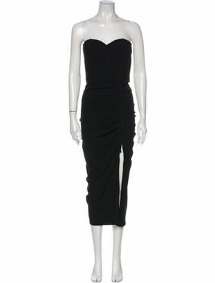Veronica Beard Strapless Long Dress Black