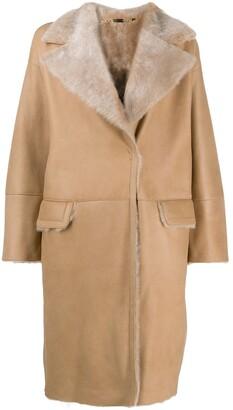 Manzoni 24 Shearling Button Up Coat