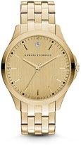 Armani Exchange Men s Smart Gold Dial with Genuine Diamond Chronograph Watch
