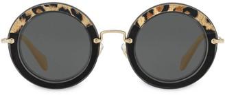 Miu Miu Leopard-Print Sunglasses