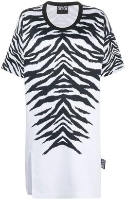 Versace zebra print oversized T-shirt