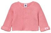 Petit Bateau Pink Chunky Knit Cardigan